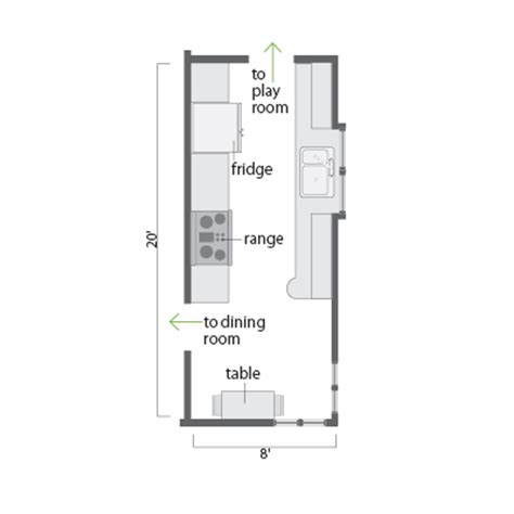 small kitchen floor plans galley galley kitchen floor plans 171 floor plans