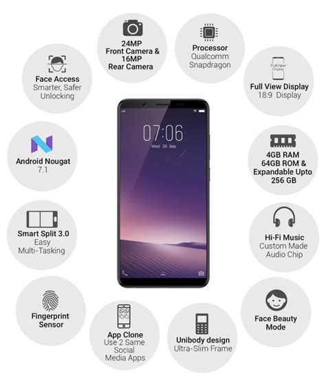 vivo v7 vivo v7 with 24 mp front 4 gb ram launched in