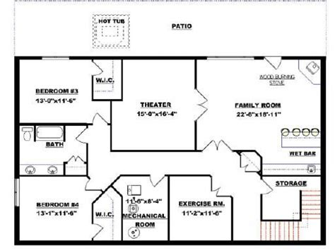 bungalow house plans with basement small modular homes floor plans floor plans with walkout