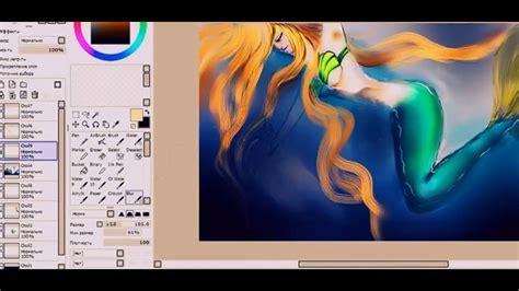 tool sai ver 1 paint tool sai ver 1 1 0 drawing a mermaid in the water