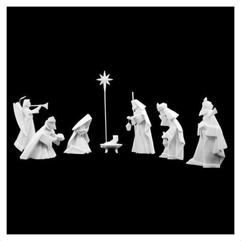 origami nativity modern 8 origami nativity manger in white porcelain