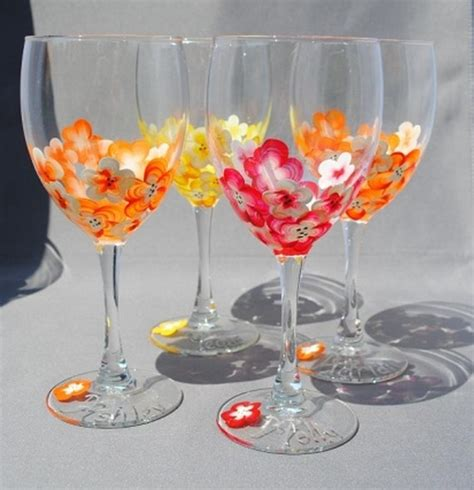 wine glass decorations painted wine glasses wine glass decorating