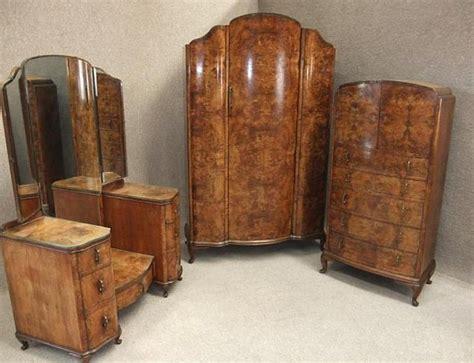 antique walnut bedroom furniture burr walnut deco bedroom suite
