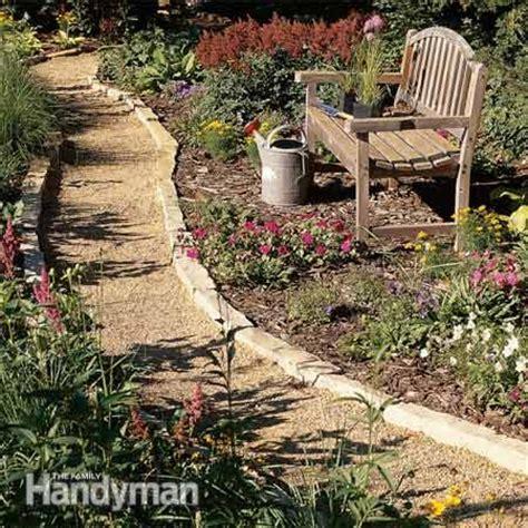 cheap ideas for garden paths affordable garden path ideas the family handyman