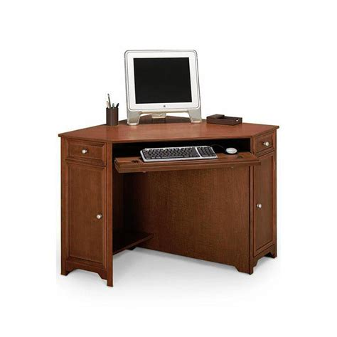50 computer desk home decorators collection oxford chesnut 50 in w corner