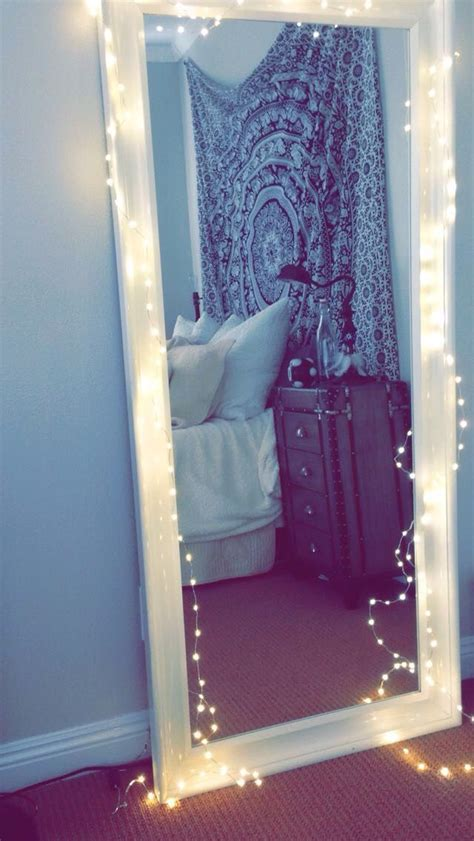 bedroom mirrors with lights tapestry boho black white bedroom twinkle lights
