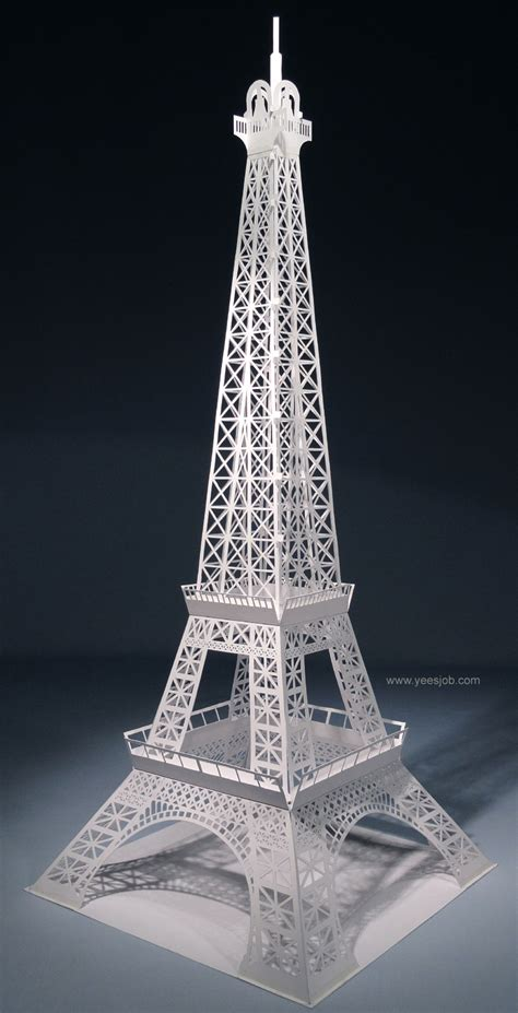 origami eiffel tower the eiffel tower pop up origami architecture diy kit