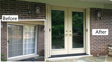 how to replace a patio door replace sliding glass patio door with provia heritage