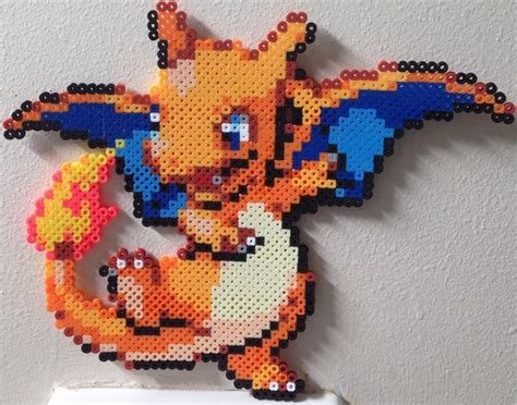 charizard perler baby charizard perler charmanizard by birdseednerd on