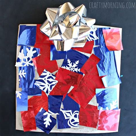 cardboard present craft for crafty morning
