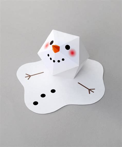 snowman paper crafts for melting paper snowman snowman craft and origami