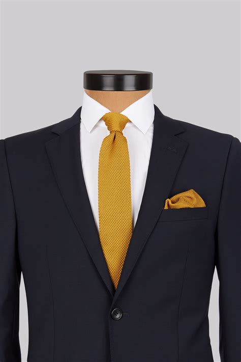 mustard knitted tie moss mustard knitted tie