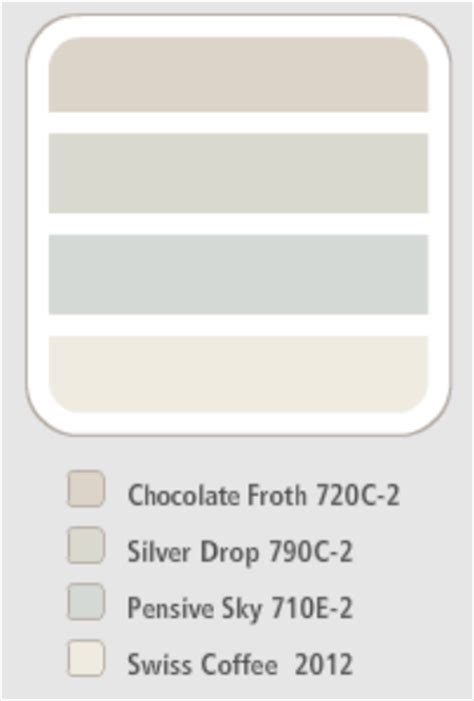 behr paint colors interior swiss coffee behr colour scheme chocolate froth silver drop