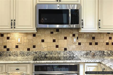 kitchen cabinet backsplash ideas beige cabinet brown travertine kitchen cabinet