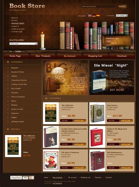 picture book websites book store oscommerce template id 300110265