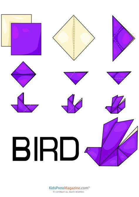 how to make paper origami birds easy origami bird kidspressmagazine