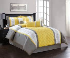 gray and yellow comforter sets 7 yellow gray white comforter set ebay