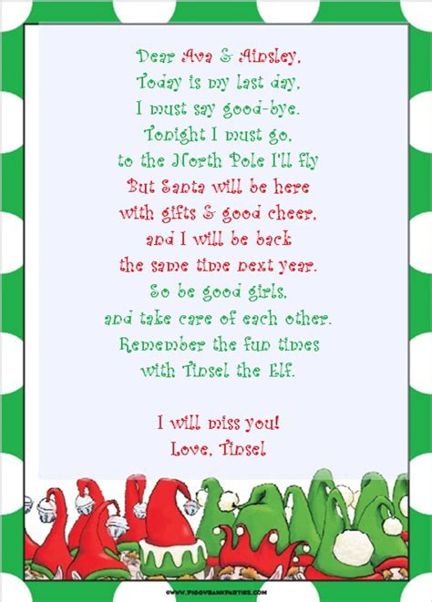 elf on the shelf goodbye letter template letter realhousewifehouston