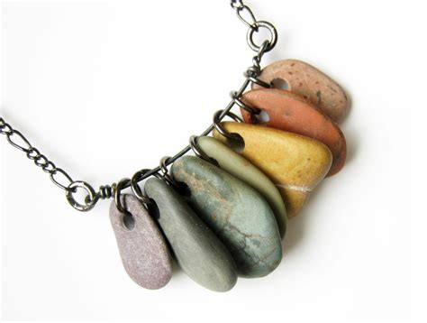 how to make jewelry with stones jewelry rainbow necklace rock collections