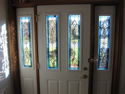 stained glass for front doors white stained glass front door with sidelights decofurnish