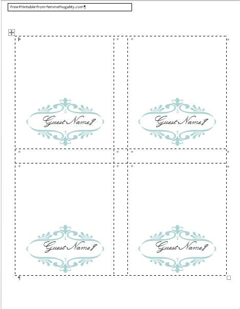 make place cards free how to make your own place cards for free with word and