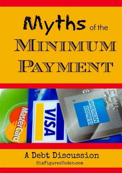 minimum payment on a credit card myths of the minimum payment a debt discussion student