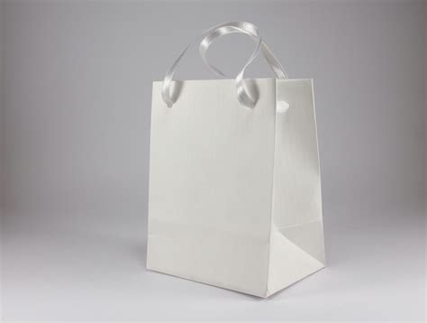 white paper craft bags 50 small white gift bags handmade of white ribbed paper