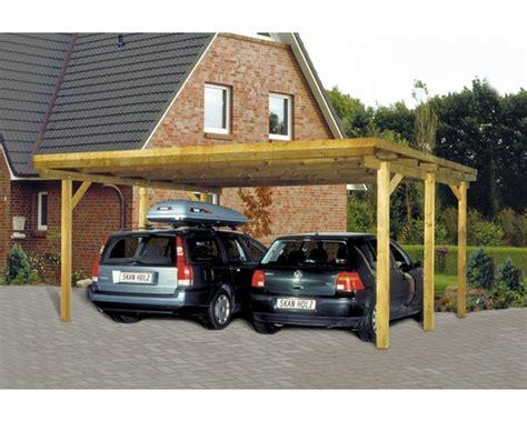 Danwood Haus Vergrößern by Carport Pour Deux V 233 Hicules Skanholz Toit Plat 520x500 Cm
