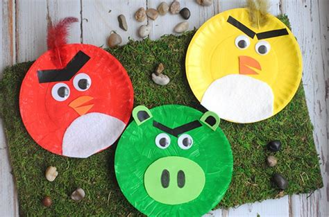 crafts to make with paper plates picture of diy angry birds from paper plates