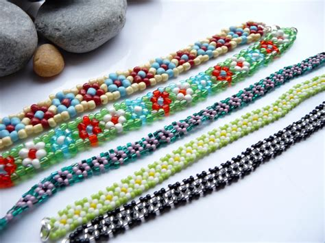 flower bead bracelet pattern seed bead bracelets as cheap yet accessories