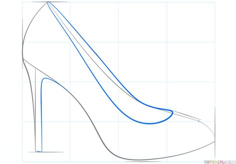 how to draw shoes how to draw a high heel shoe step by step drawing tutorials
