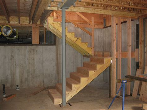 how to build basement stairs day 107 climbing around our new house