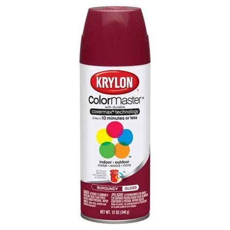 spray paint walmart krylon 12 oz burgundy indoor and outdoor spray paint gloss