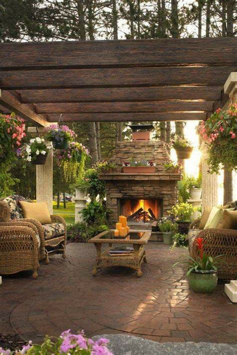 outdoor living spaces best 25 outdoor fireplace patio ideas on