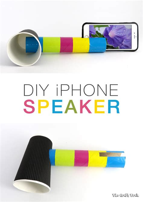 paper cup telephone craft diy iphone speaker to learn about sound the craft