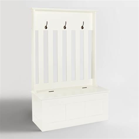 white wood wentworth entryway storage bench world market