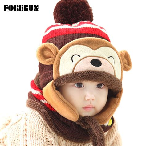 knitted animal hats animal bonnet hat scarf set