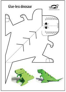 free craft papers to print glue printable dinosaur งานประด ษฐ