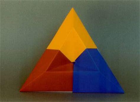 triangle box origami sunken triangle box
