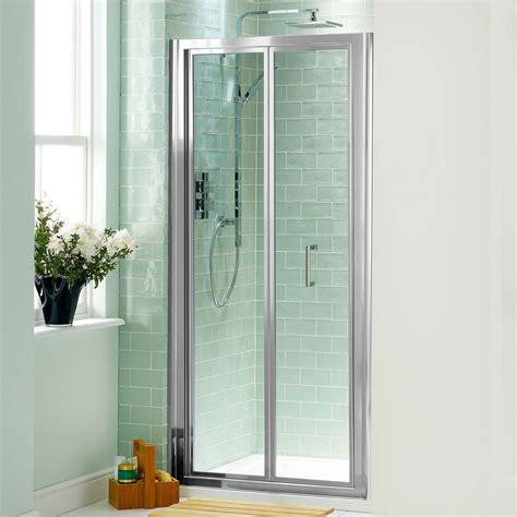 bifold glass shower door bi fold shower door will give your bathroom an upscale