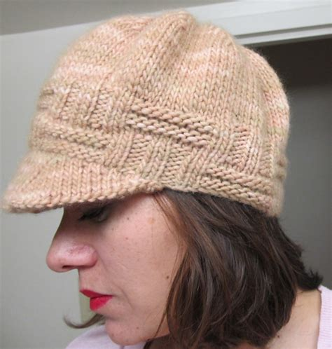 knit hat with brim pattern free anja s hat pattern by maza gildea newsboy cap and cap