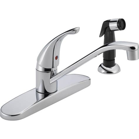 single handle kitchen faucet with sprayer peerless single handle standard kitchen faucet with
