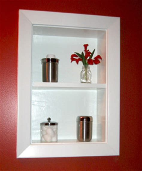 recessed shelves in bathroom uncover space make recessed shelves in your bathroom