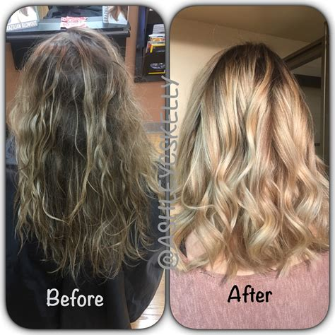 before and after hair services before and after salon 109