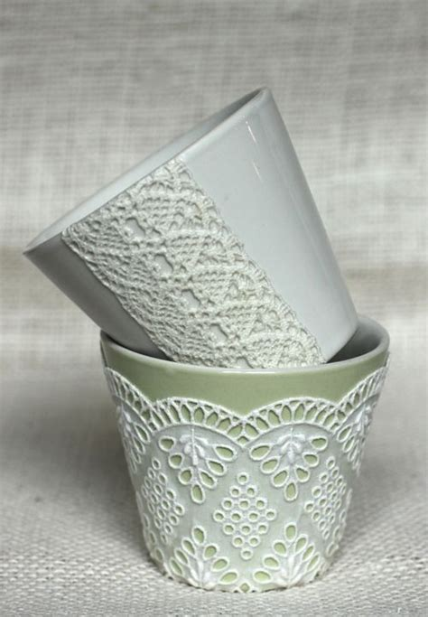 decoupage diy do it yourself weddings diy lace decoupage vases