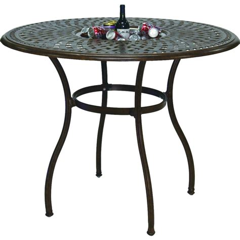 patio table bar height darlee series 60 52 inch cast aluminum counter height