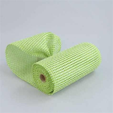paper mesh craft 10 quot paper mesh ribbon lime white criss cross 10 yards
