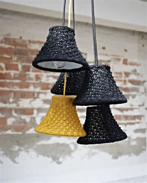 knitted light shade exquisite knitted furnishings by melanie porter
