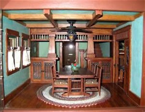 craftsman style woodwork details about ooak dollhouse craftsman style with