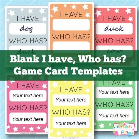 printable card websites for free i who has template learning for
